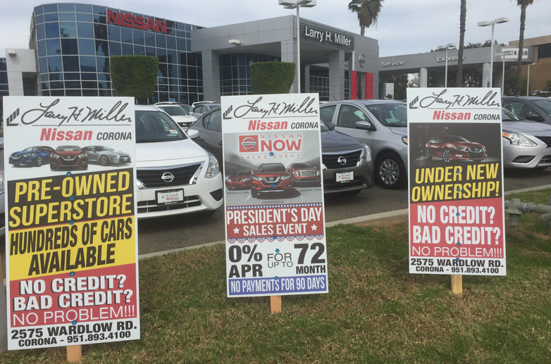 with roadside advertising dealership signs you can outfit your entire facility with consistent well designed branding