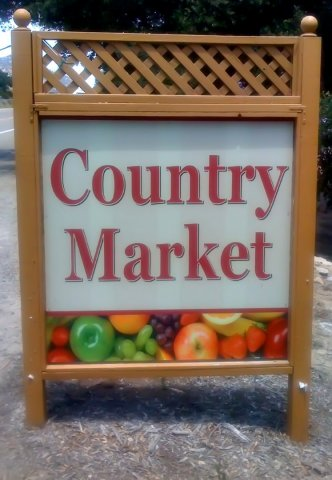 country market sign