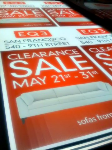 eq3 sale sign