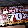 mazar rugs sale sign